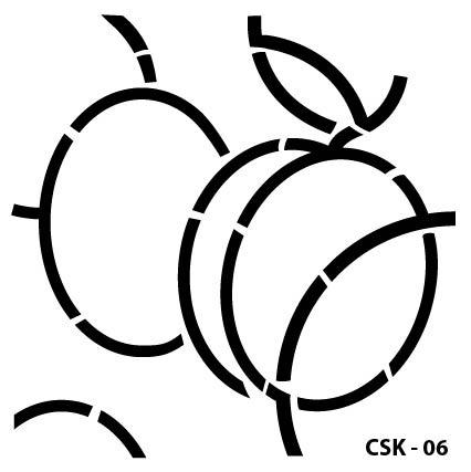 Kayısı Çocuk Stencil CSK-06  ( 25 x 25 )