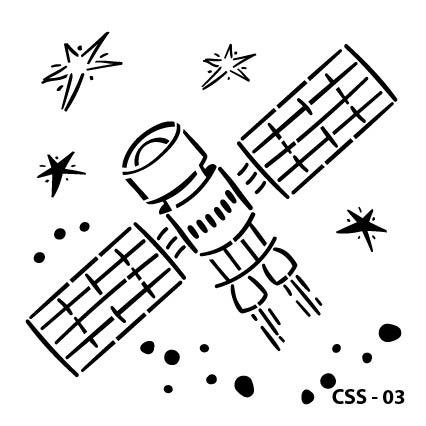 Uydu Çocuk Stencil CSS-03  ( 15 x 15 )