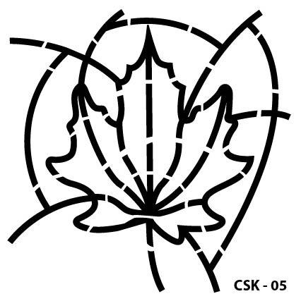 Yaprak Çocuk Stencil CSK-05  ( 25 x 25 )