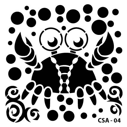 Yengeç Çocuk Stencil CSA-04  ( 25 x 25 )