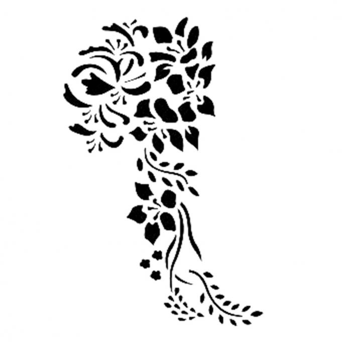 Çiçek Demeti Stencil D108 15*20 Boyut
