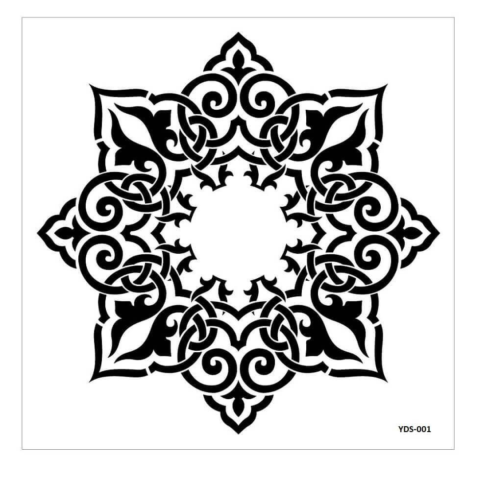 Cadence Dantel Stencil Kenarlıklı YDS-01 (35x35)