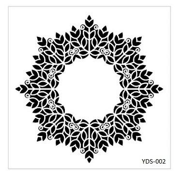 Cadence Dantel Stencil Kenarlıklı YDS-02 (35x35)