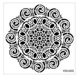 Cadence Dantel Stencil Kenarlıklı YDS-03 (35x35)