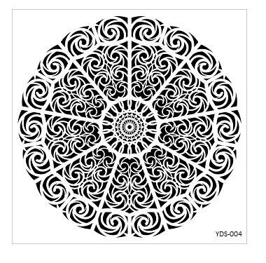 Cadence Dantel Stencil Kenarlıklı YDS-04 (35x35)
