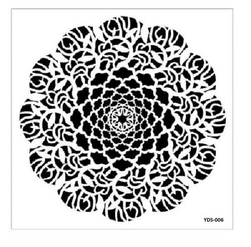 Cadence Dantel Stencil Kenarlıklı YDS-06 (35x35)