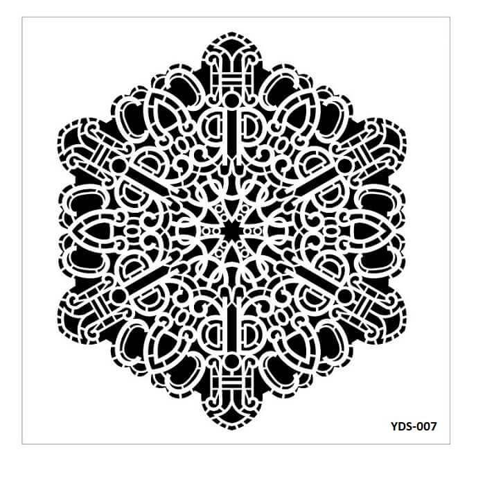 Cadence Dantel Stencil Kenarlıklı YDS-07 (35x35)