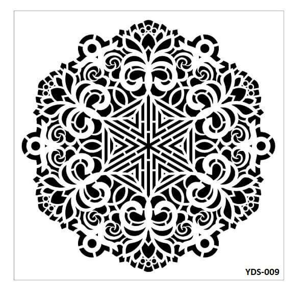 Cadence Dantel Stencil Kenarlıklı YDS-09 (35x35)