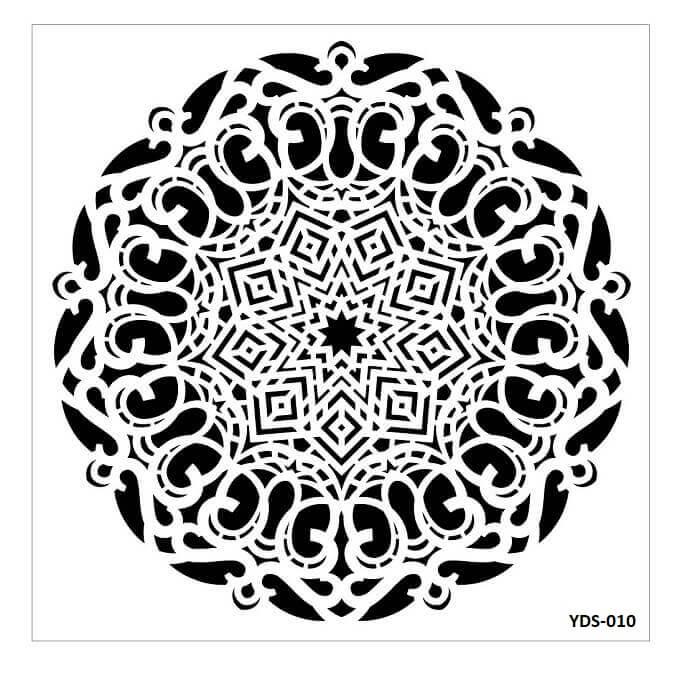 Cadence Dantel Stencil Kenarlıklı YDS-10 (35x35)
