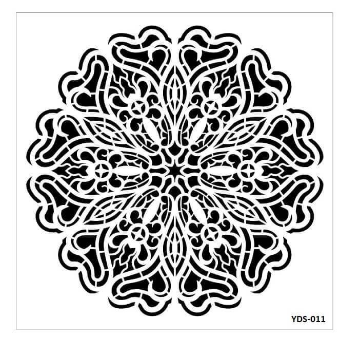 Cadence Dantel Stencil Kenarlıklı YDS-11 (35x35)