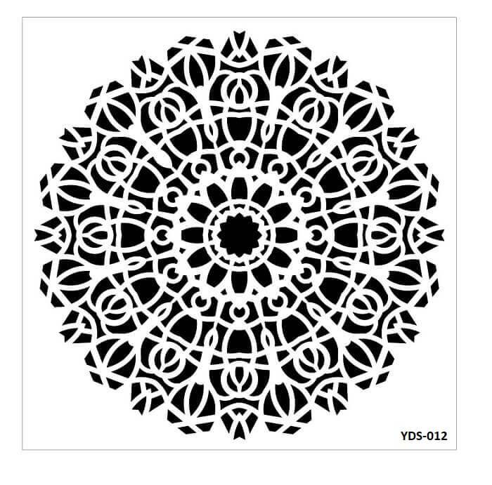 Cadence Dantel Stencil Kenarlıklı YDS-12 (35x35)