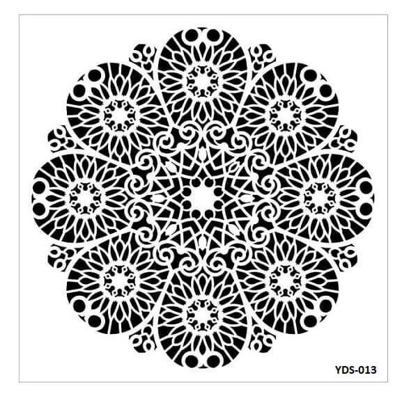 Cadence Dantel Stencil Kenarlıklı YDS-13 (35x35)