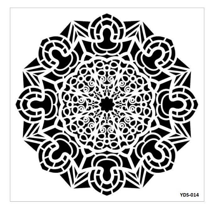 Cadence Dantel Stencil Kenarlıklı YDS-14 (35x35)