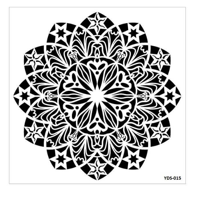 Cadence Dantel Stencil Kenarlıklı YDS-15 (35x35)