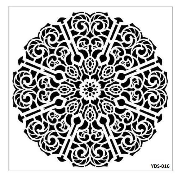 Cadence Dantel Stencil Kenarlıklı YDS-16 (35x35)