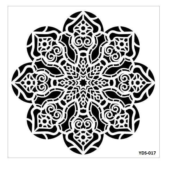 Cadence Dantel Stencil Kenarlıklı YDS-17 (35x35)