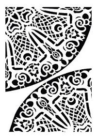 Cadence Dekoratif Stencil DC-07 ( 15 x 20 )