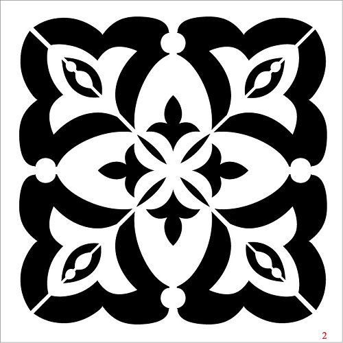 Cadence Fayans Stencil TCS-02 (30 x 30)