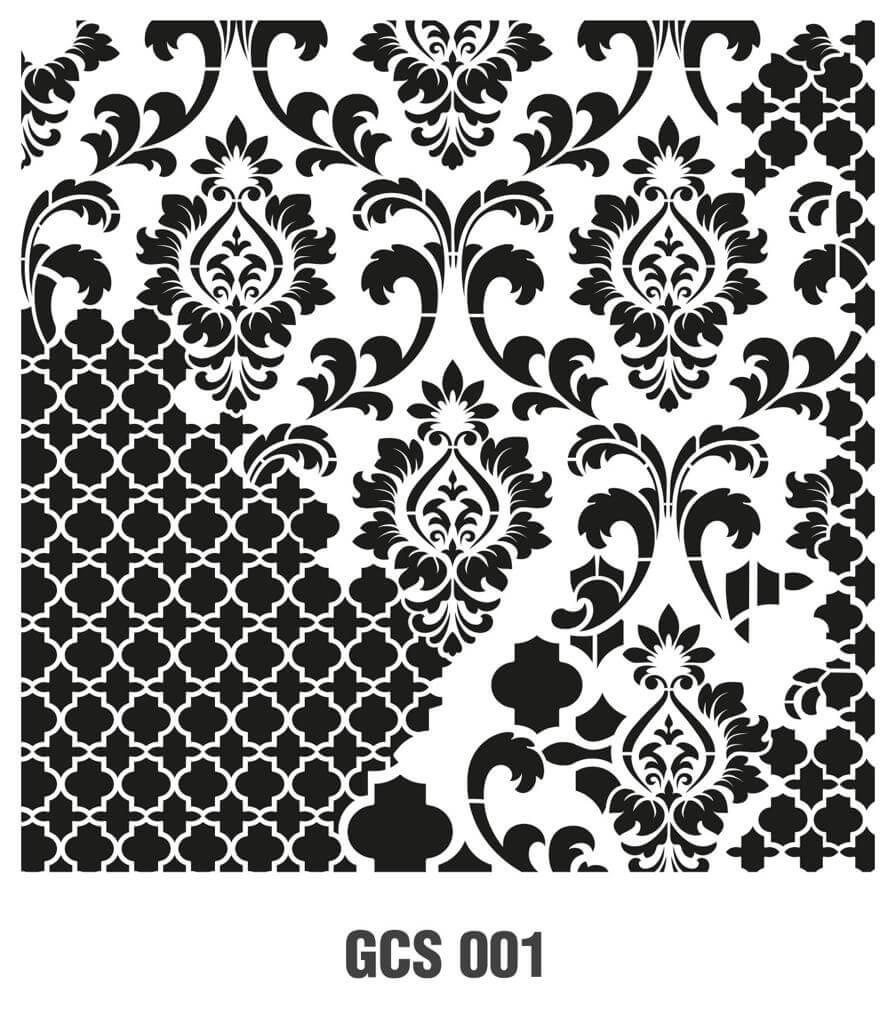 Cadence Grunge Duvar Stencil  - GCSM001 ( 25 x 25 )