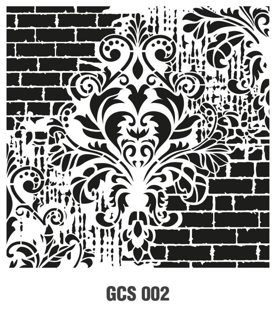Cadence Grunge Duvar Stencil - GCS002 ( 45 x 45 )