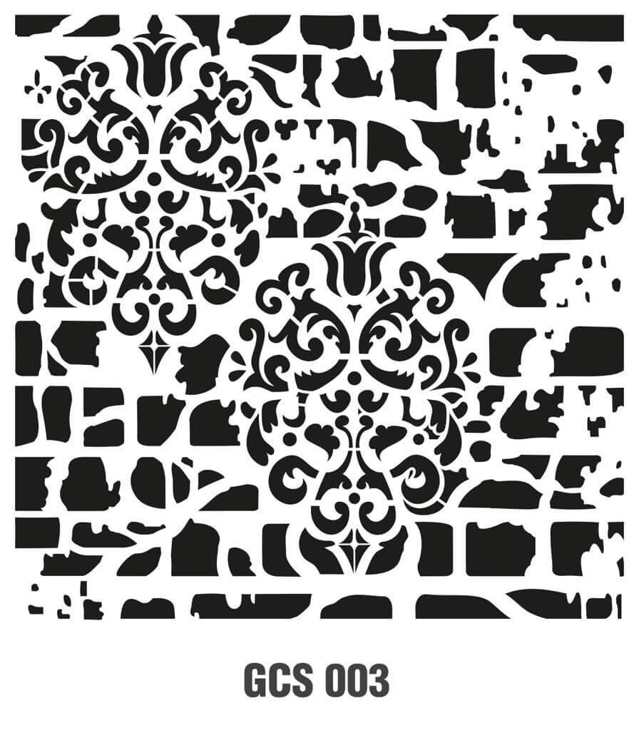 Cadence Grunge Duvar Stencil - GCSM003 ( 25 x 25 )