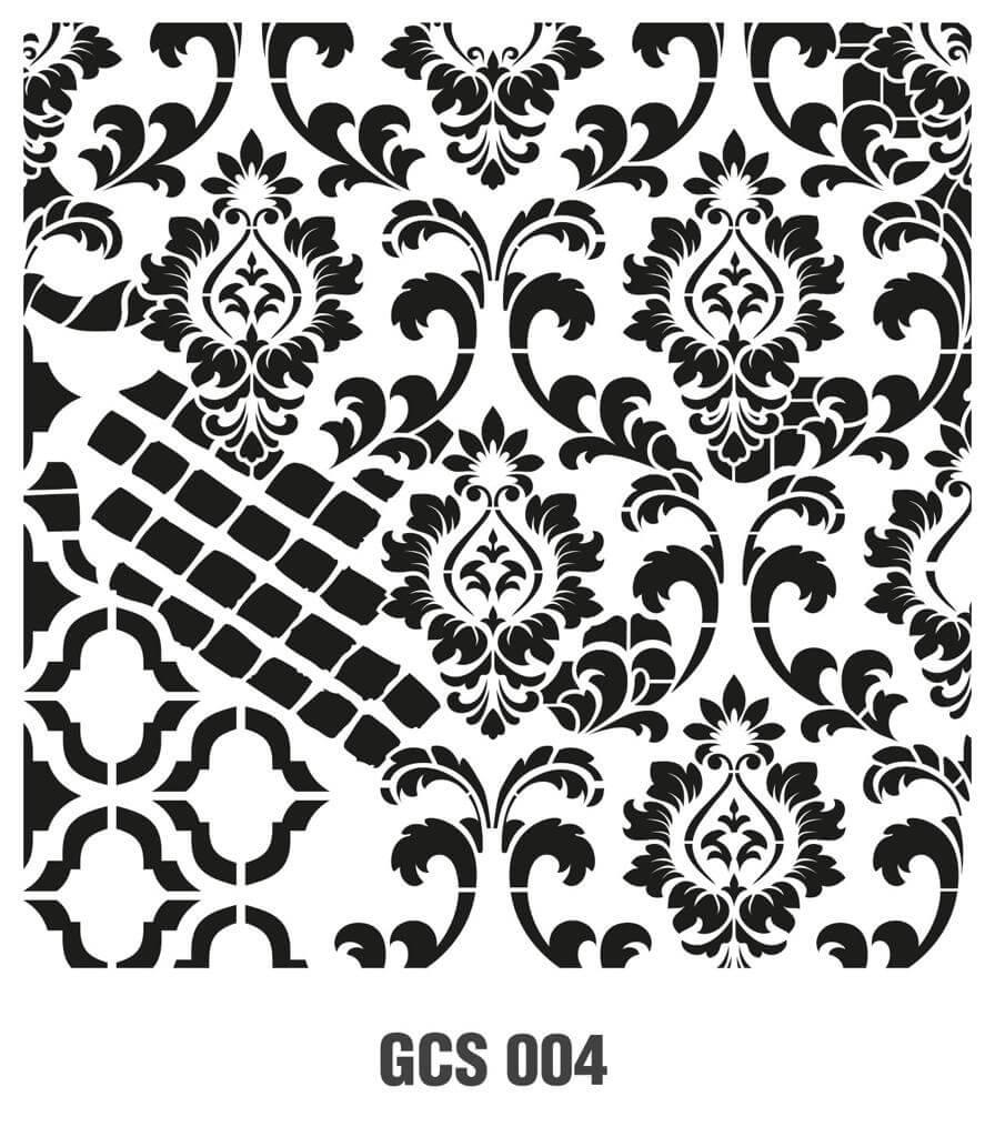 Cadence Grunge Duvar Stencil - GCS004 ( 45 x 45 )