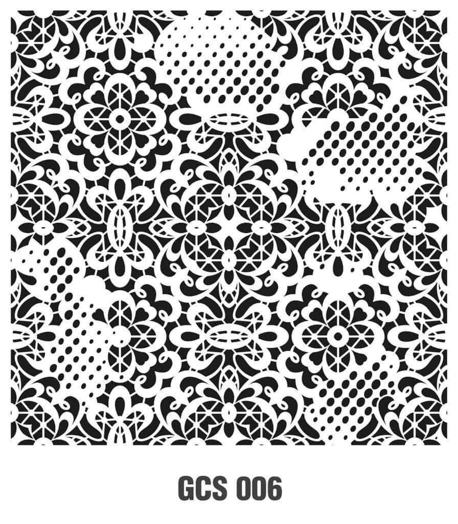 Cadence Grunge Duvar Stencil - GCS006 ( 45 x 45 )