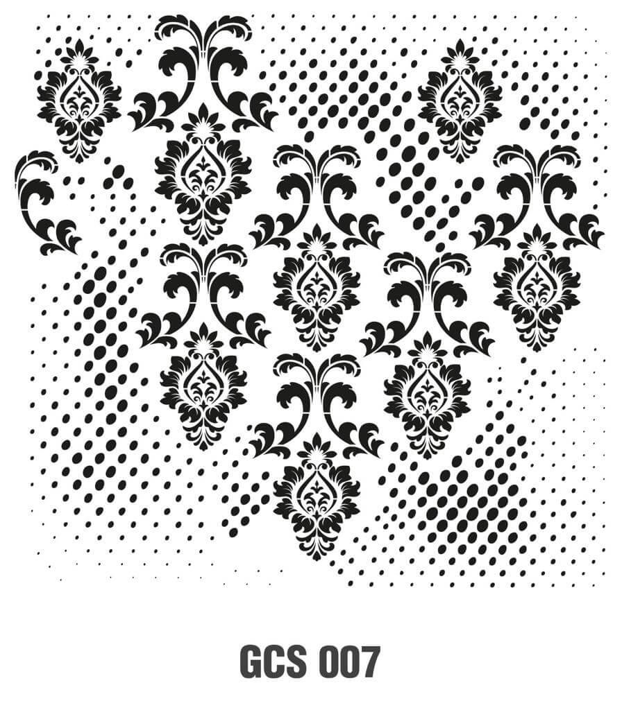 Cadence Grunge Duvar Stencil - GCS007 ( 45 x 45 )