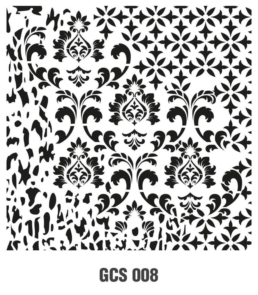Cadence Grunge Duvar Stencil - GCSM008 ( 25 x 25 )