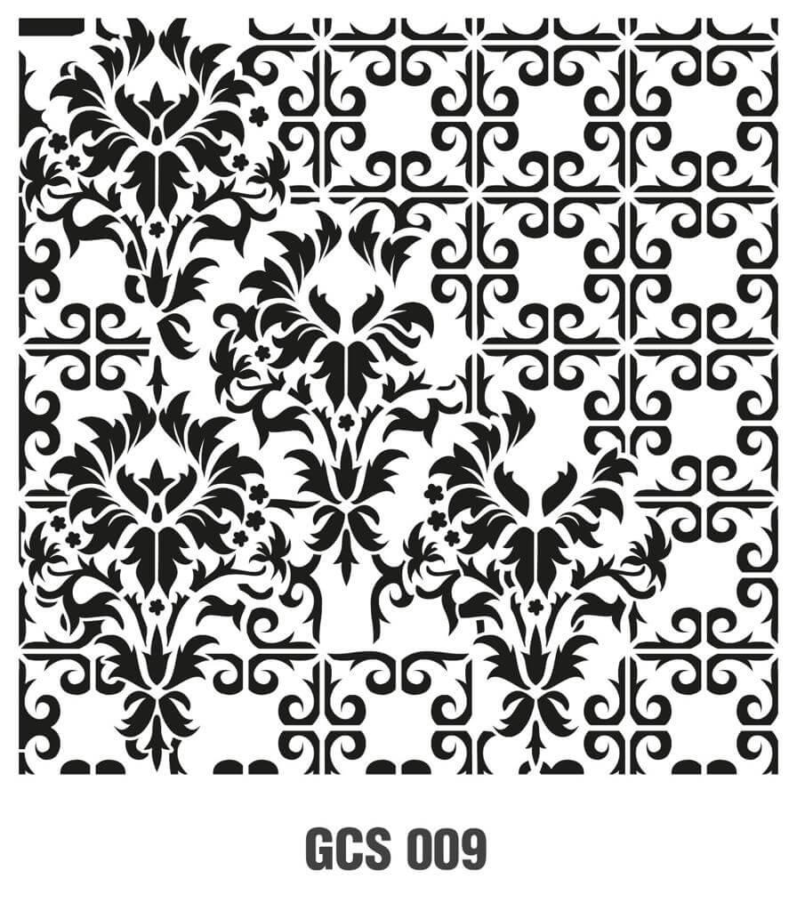 Cadence Grunge Duvar Stencil - GCS009 ( 45 x 45 )