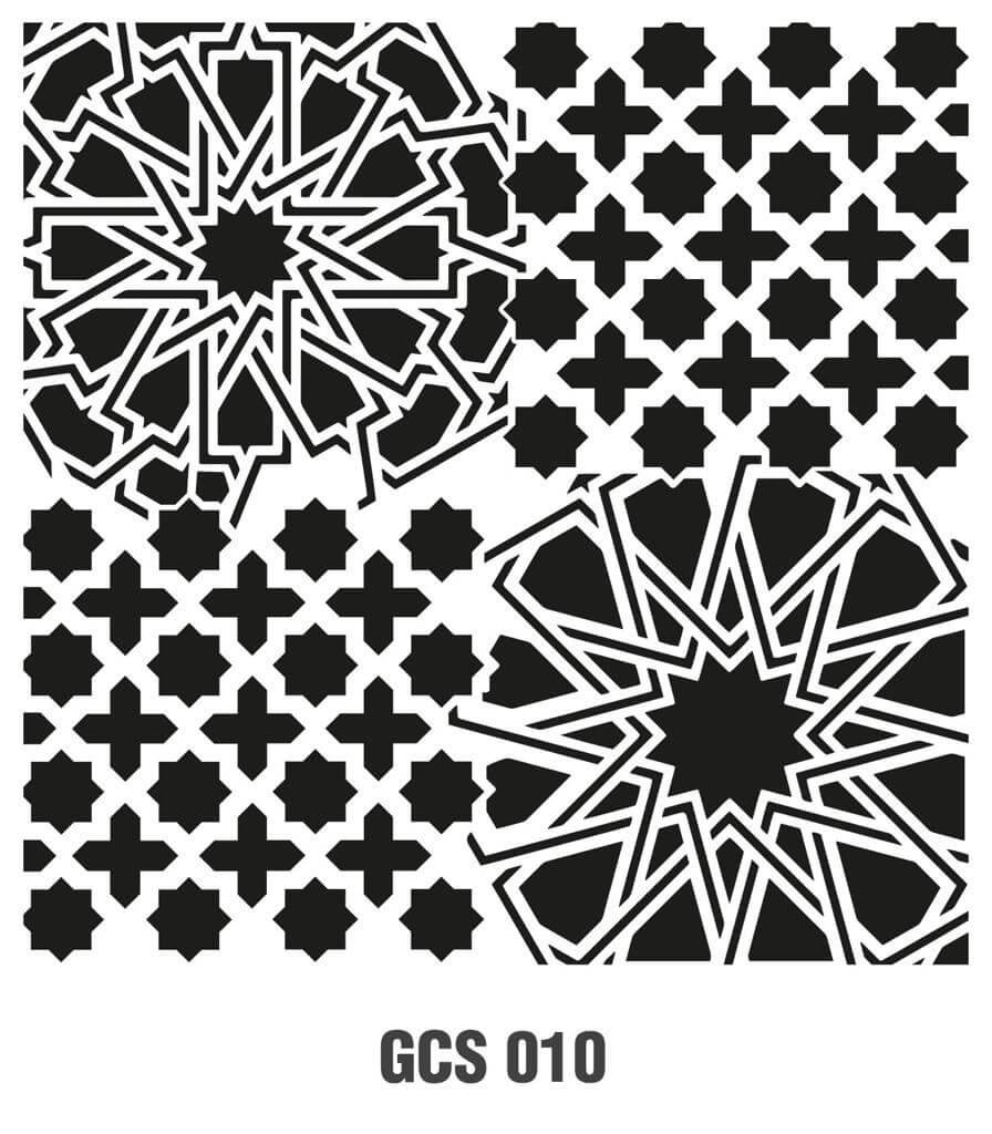 Cadence Grunge Duvar Stencil - GCS010 ( 45 x 45 )
