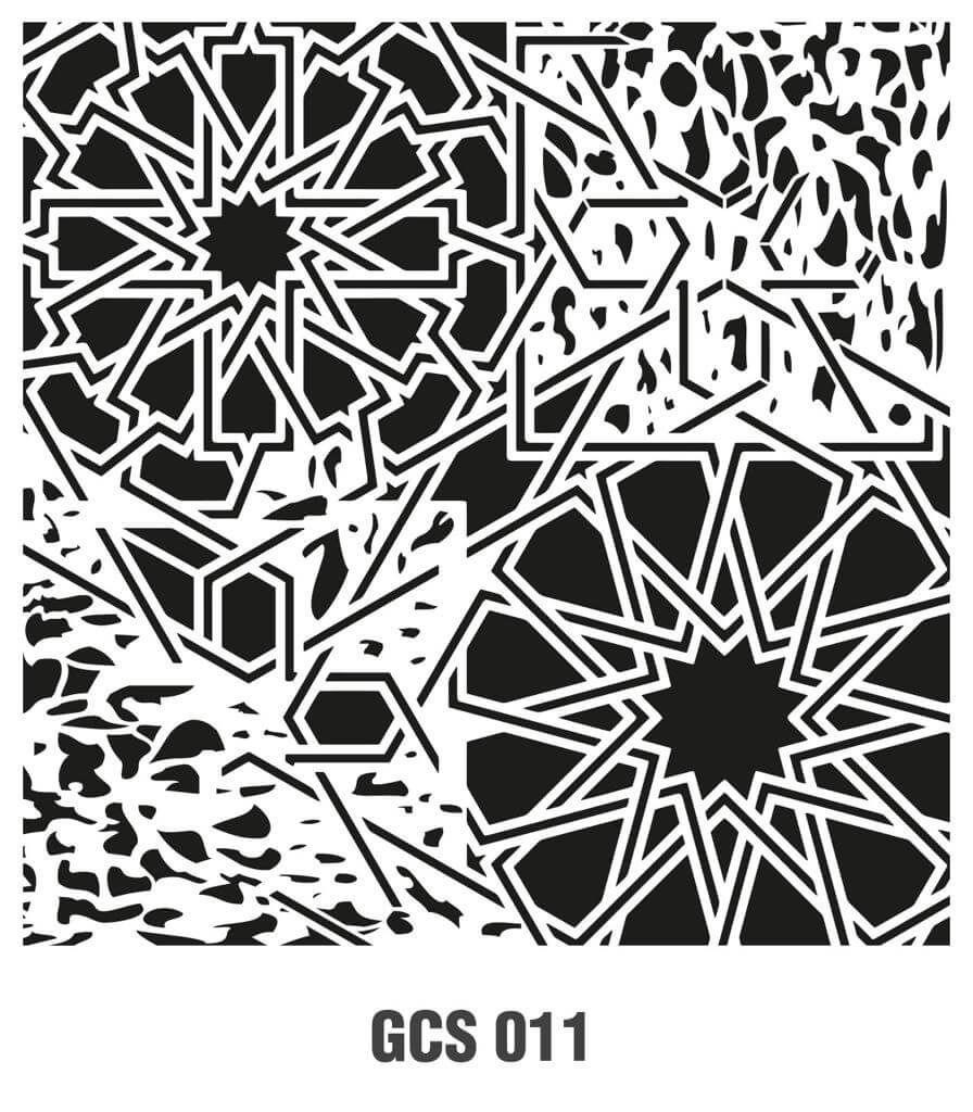 Cadence Grunge Duvar Stencil - GCSM011 ( 25 x 25 )