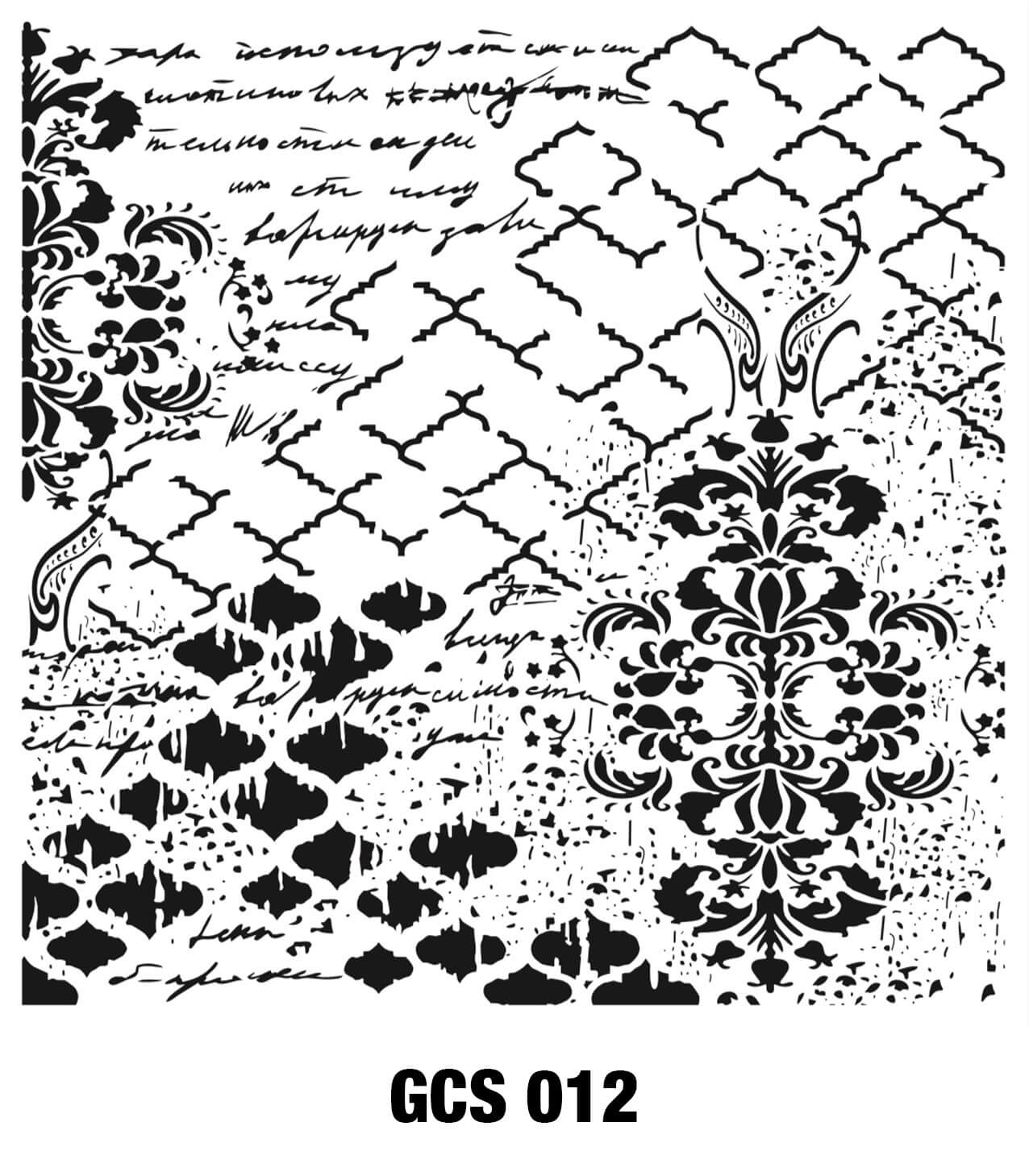 Cadence Grunge Duvar Stencil - GCSM012 ( 25 x 25 )
