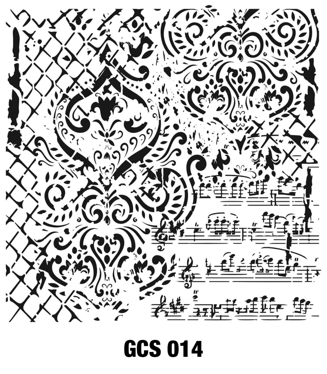 Cadence Grunge Duvar Stencil - GCS014 ( 45 x 45 ) fiyatları