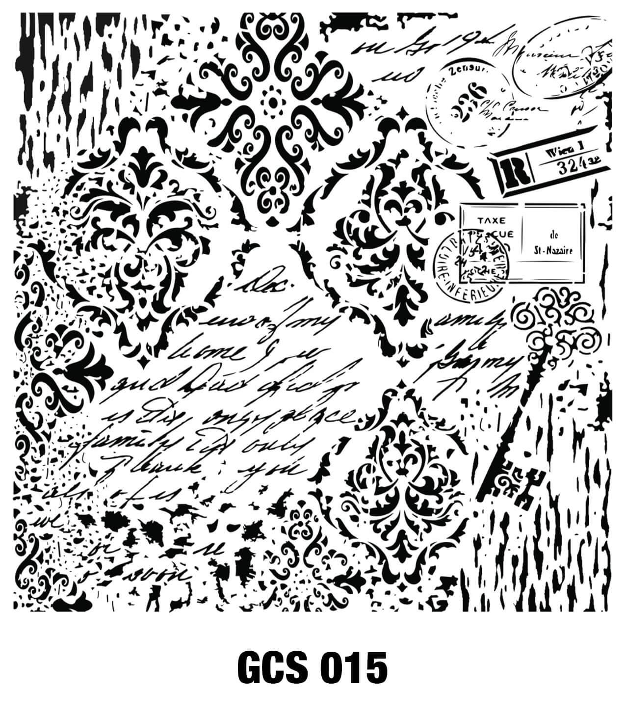 Cadence Grunge Duvar Stencil - GCSM015 ( 25 x 25 )