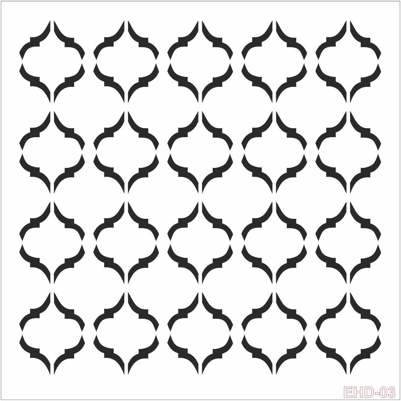 Cadence Home Dekor Stencil EHD003 ( 45 x 45 )
