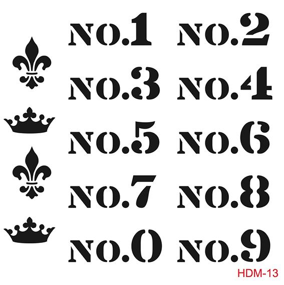 Cadence Home Dekor Stencil HDM013 ( 25 x 25 )