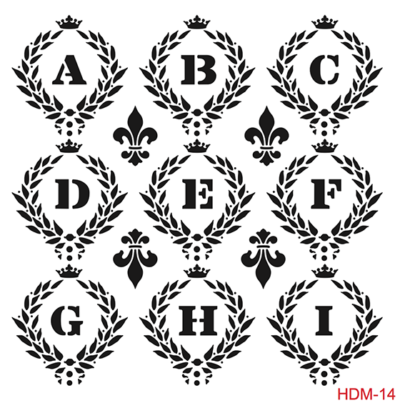Cadence Home Dekor Stencil HD014 ( 45 x 45 )