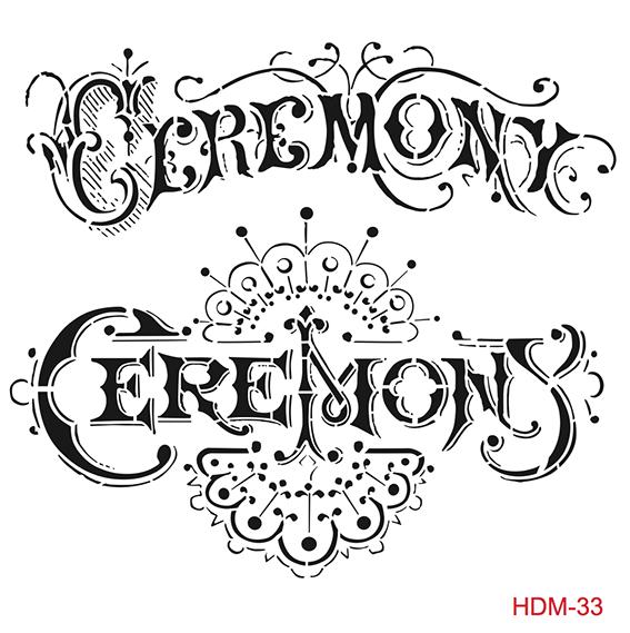 Cadence Home Dekor Stencil HDM033 ( 25 x 25 )