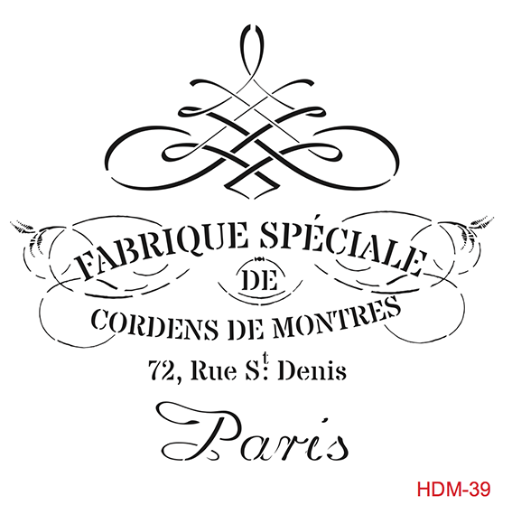 Cadence Home Dekor Stencil HD039 ( 45 x 45 )
