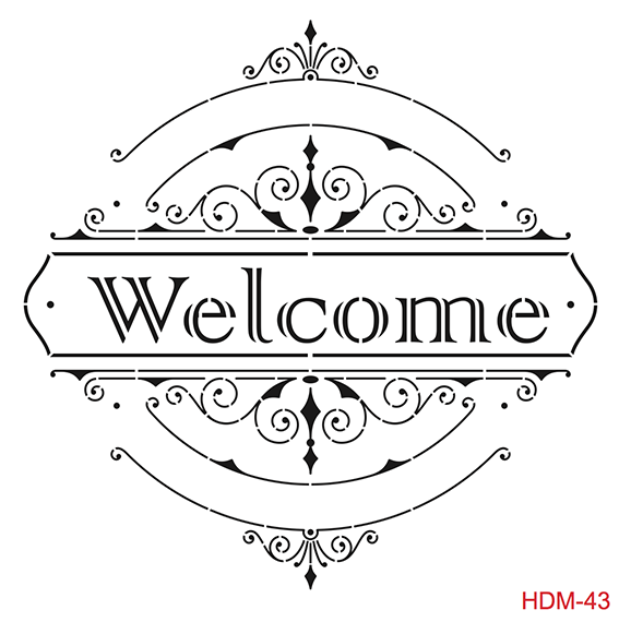 Cadence Home Dekor Stencil HD043 ( 45 x 45 )