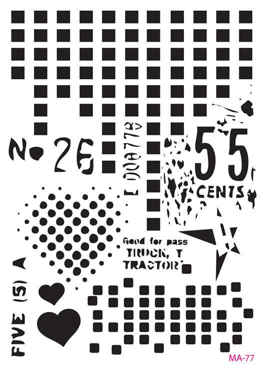 MA77 Mix Media Stencil