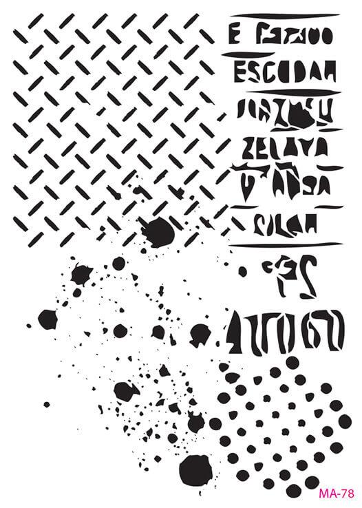 MA78 Mix Media Stencil