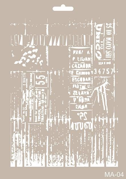 MA04 Mix Media Stencil