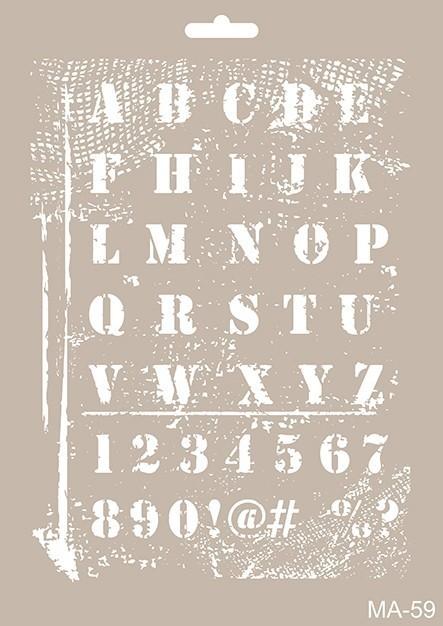 MA59 Mix Media Stencil