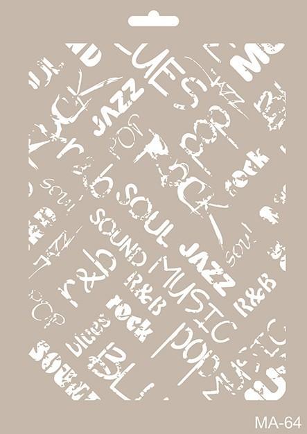 MA64 Mix Media Stencil