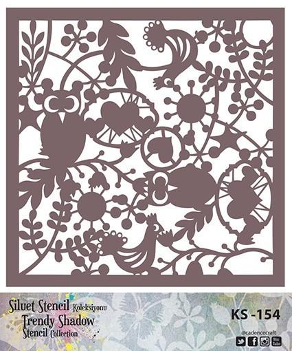 KS154 Silüet Stencil