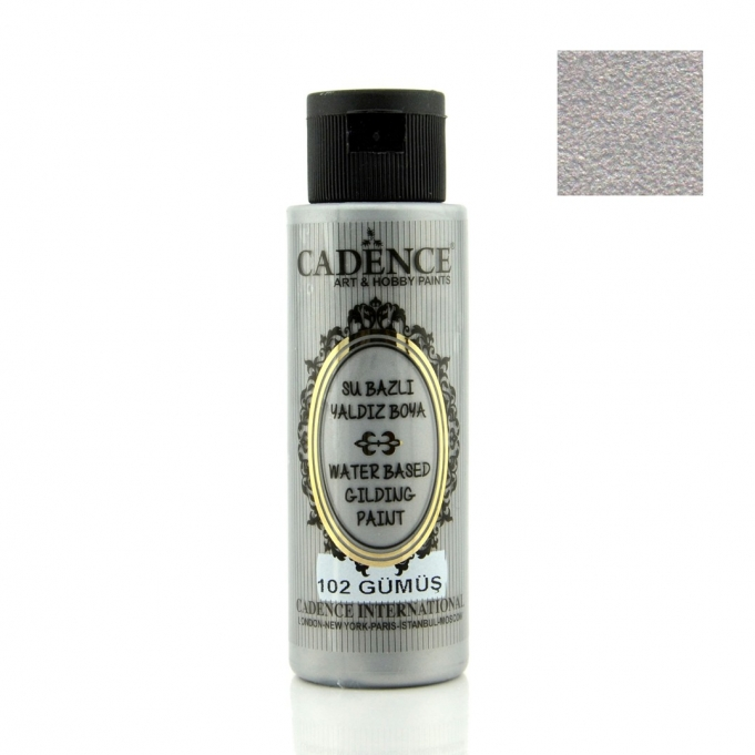 102 Gümüş-Su Bazlı Yaldız 70ML(cc)
