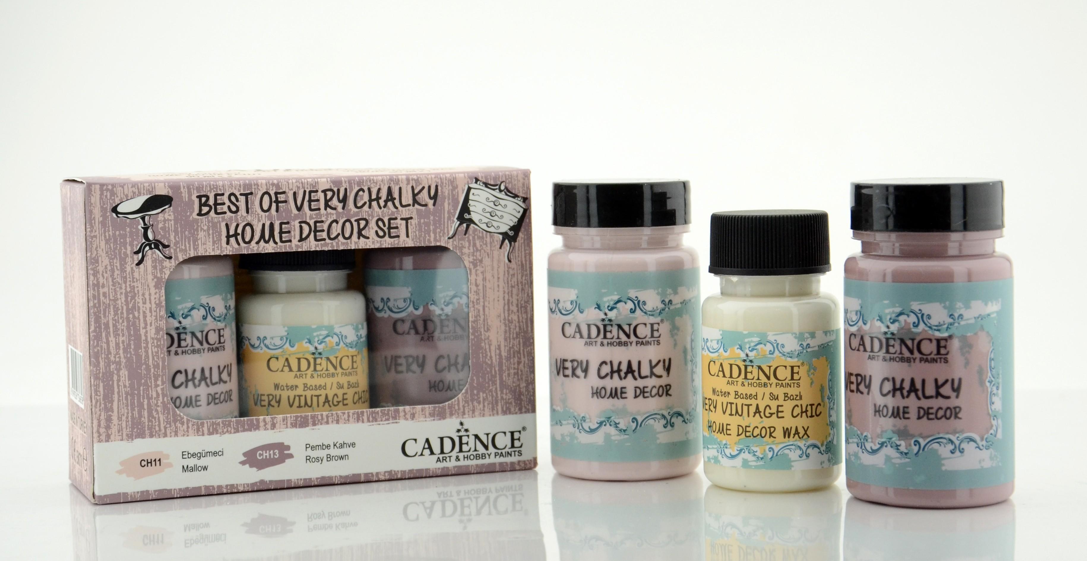 Ebegümeci ve Pembe Kahve Cadence Very Chalky Set 6- CH11-CH13