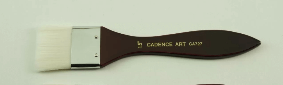 Cadence İpek Bordo Zemin Fırçası CA727 - 1,5 No (4 cm)